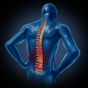 Broken posture and spinal distortion